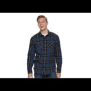 Men's Urban Pipeline™ Flannel Button-Down Shirt L